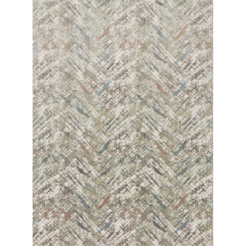 "Loloi Reid RED-01 Contemporary Power Loomed 2' 7"" x 12' Runner Rug in Morning Mist (REIDRED-01MM0027C0)"