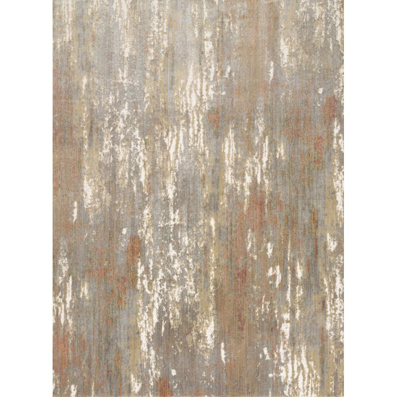 """Loloi Reid RED-02 Contemporary Power Loomed 5' 3"""" x 7' 8"""" Rectangle Rug in Granite (REIDRED-02GN005378)"""