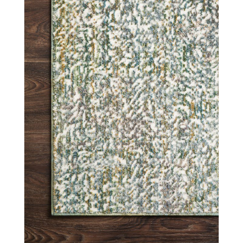 """Loloi Reid RED-03 Contemporary Power Loomed 1' 6"""" x 1' 6"""" Sample Swatch Rug in Sea (REIDRED-03SU00160S)"""