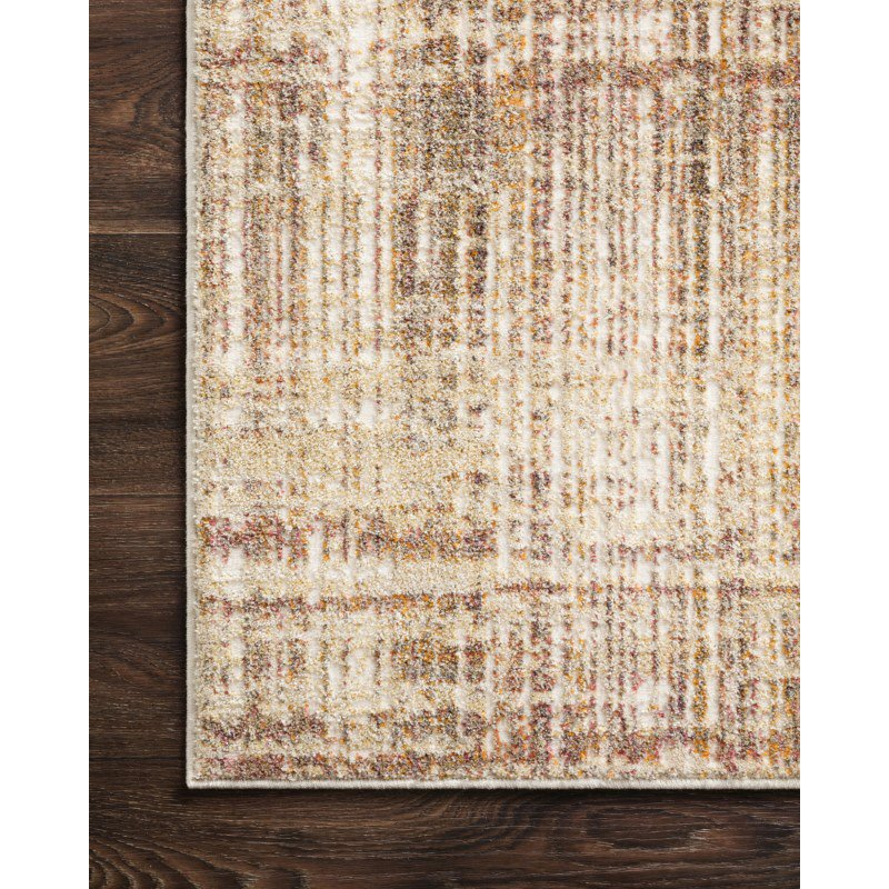"""Loloi Reid RED-04 Contemporary Power Loomed 1' 6"""" x 1' 6"""" Sample Swatch Rug in Rust (REIDRED-04RU00160S)"""