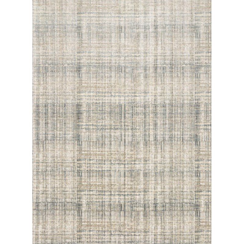 "Loloi Reid RED-04 Contemporary Power Loomed 6' 7"" x 9' 2"" Rectangle Rug in Bluestone (REIDRED-04ZV006792)"