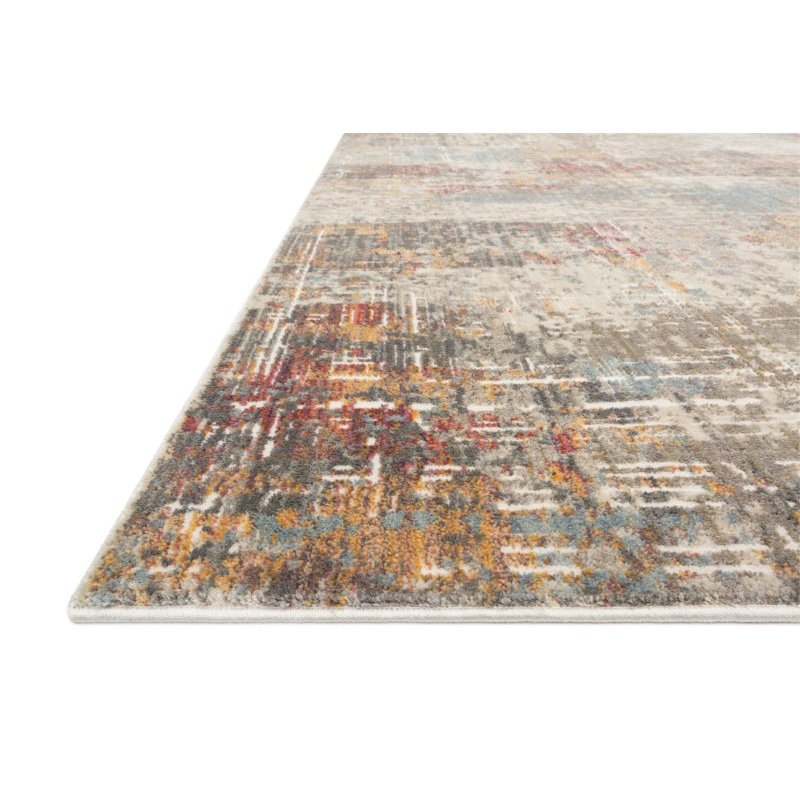 """Loloi Reid RED-05 Contemporary Power Loomed 1' 6"""" x 1' 6"""" Sample Swatch Rug in Multi (REIDRED-05ML00160S)"""