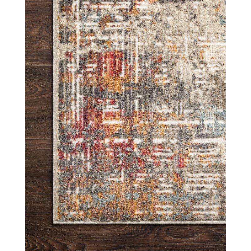 "Loloi Reid RED-05 Contemporary Power Loomed 2' 7"" x 10' Runner Rug in Multi (REIDRED-05ML0027A0)"