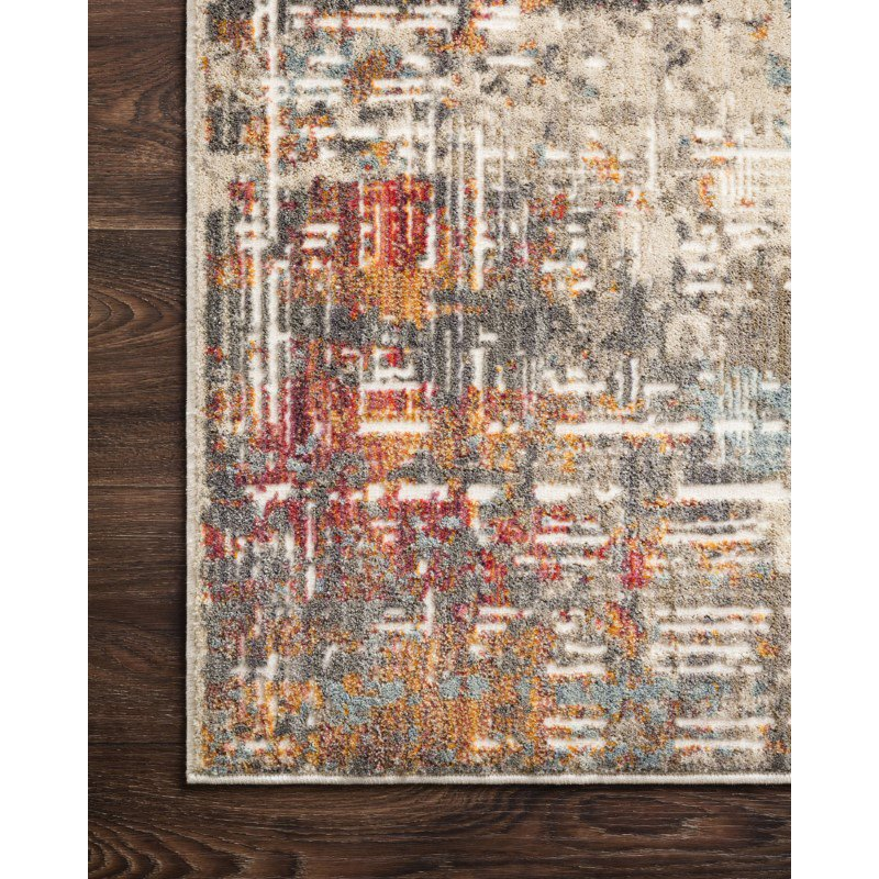 "Loloi Reid RED-05 Contemporary Power Loomed 2' 7"" x 12' Runner Rug in Multi (REIDRED-05ML0027C0)"
