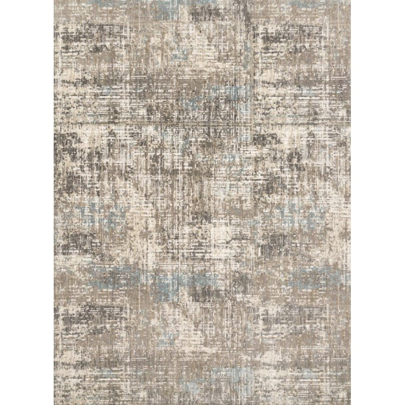"""Loloi Reid RED-05 Contemporary Power Loomed 2' 7"""" x 12' Runner Rug in Pewter (REIDRED-05PW0027C0)"""