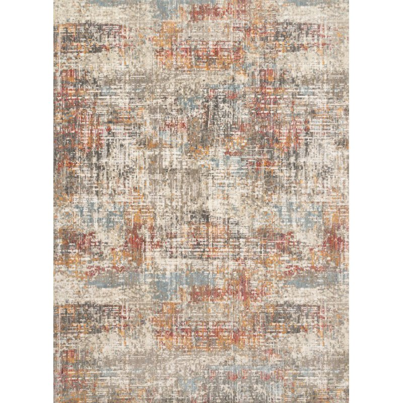 """Loloi Reid RED-05 Contemporary Power Loomed 5' 3"""" x 7' 8"""" Rectangle Rug in Multi (REIDRED-05ML005378)"""