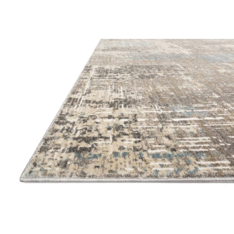 """Loloi Reid RED-05 Contemporary Power Loomed 6' 7"""" x 9' 2"""" Rectangle Rug in Pewter (REIDRED-05PW006792)"""