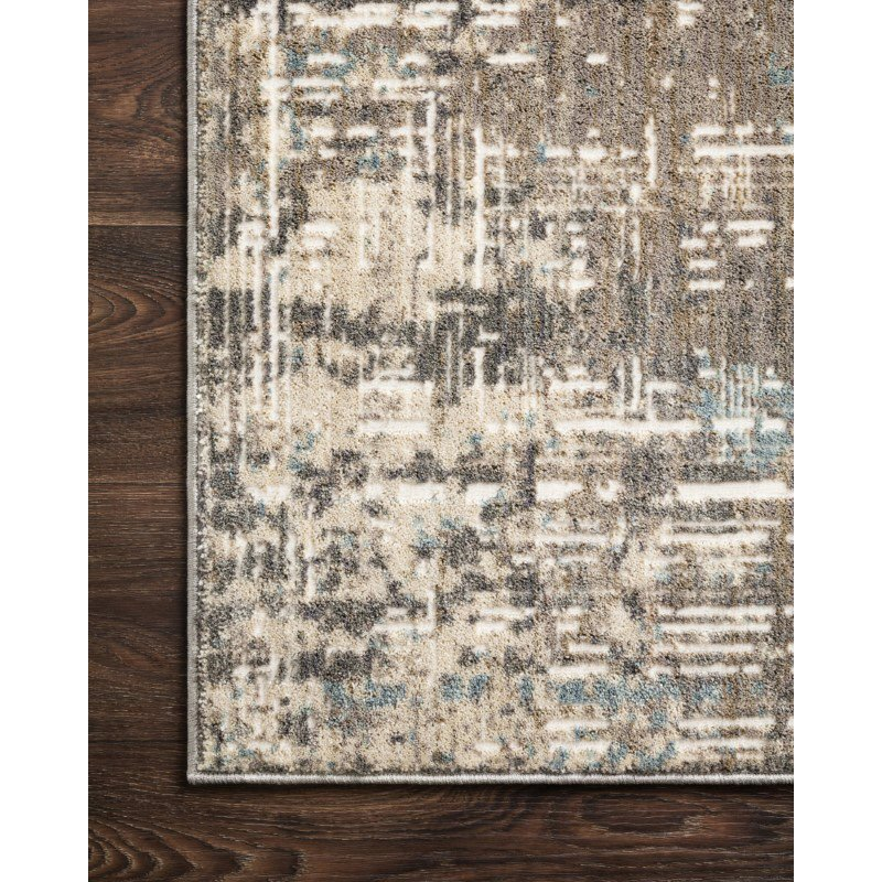 """Loloi Reid RED-05 Contemporary Power Loomed 9' 6"""" x 13' Rectangle Rug in Pewter (REIDRED-05PW0096D0)"""