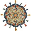 Loloi Remy RU-03 3' Round Rug in Turquoise and Spice (REMYRU-03TQSQ300R)