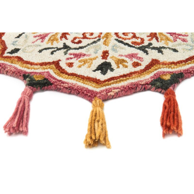 Loloi Remy RU-07 3' Round Rug in Ivory and Sunset (REMYRU-07IVSS300R)
