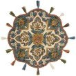 Loloi Remy RU-15 Transitional Hooked 3' x 3' Round Rug in Sea and Multi (REMYRU-15SUML300R)