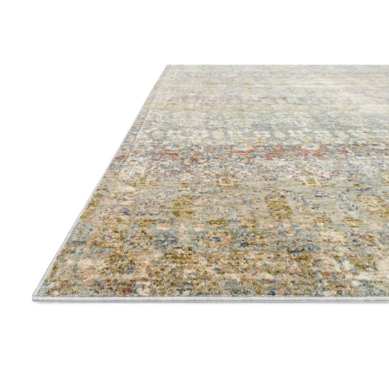 "Loloi Revere REV-03 Traditional 1' 6"" x 1' 6"" Sample Swatch Square Rug in Grey and Multi (REVRREV-03GYML160S)"