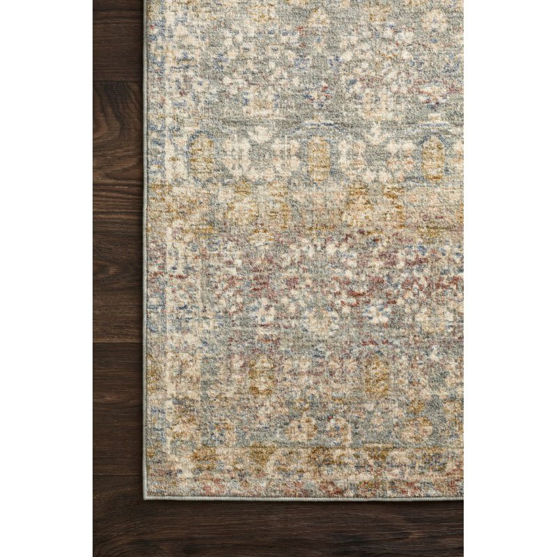 """Loloi Revere REV-03 Traditional 7' 10"""" x 10' Rectangle Rug in Grey and Multi (REVRREV-03GYML7AA0)"""
