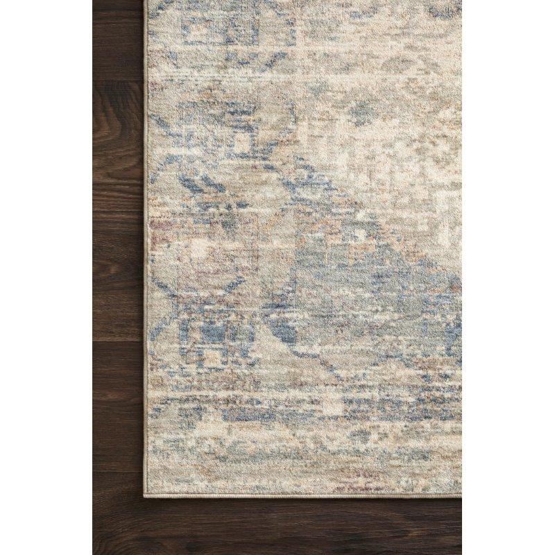 """Loloi Revere REV-06 Traditional 2' 6"""" x 10' Runner Rug in Ivory and Blue (REVRREV-06IVBB26A0)"""
