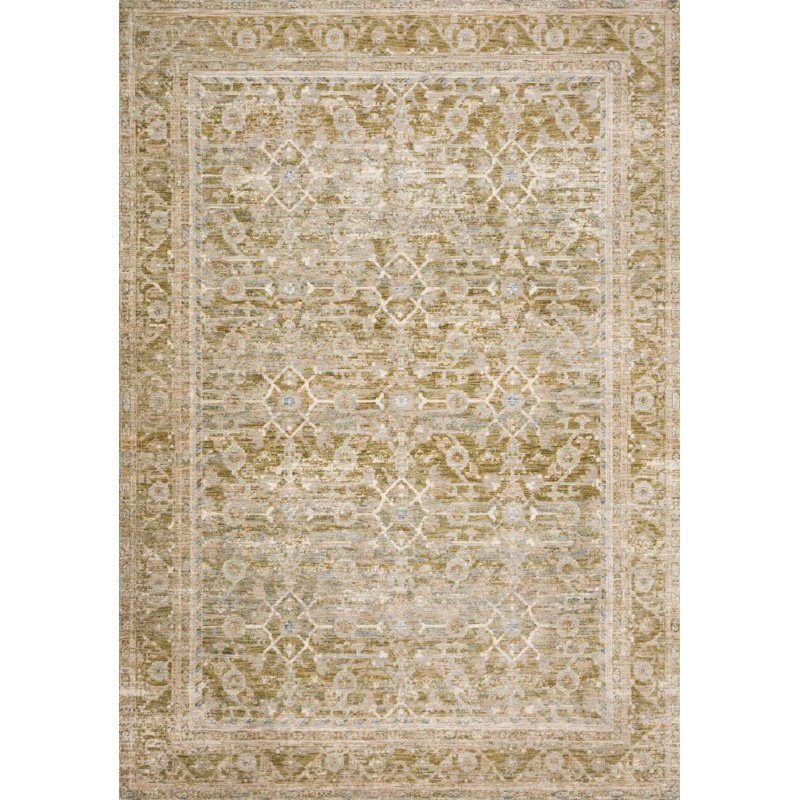 Loloi Revere REV-07 Traditional 5' x 8' Rectangle Rug in Avocado and Multi (REVRREV-07AVML5080)