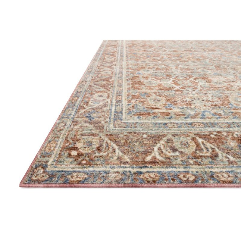 "Loloi Revere REV-07 Traditional 9' 6"" x 12' 5"" Rectangle Rug in Terracotta and Multi (REVRREV-07TCML96C5)"