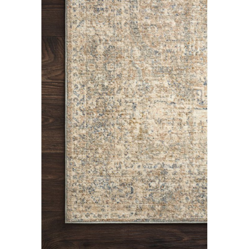 Loloi Revere REV-08 Traditional 5' x 8' Rectangle Rug in Granite and Blue (REVRREV-08GNBB5080)