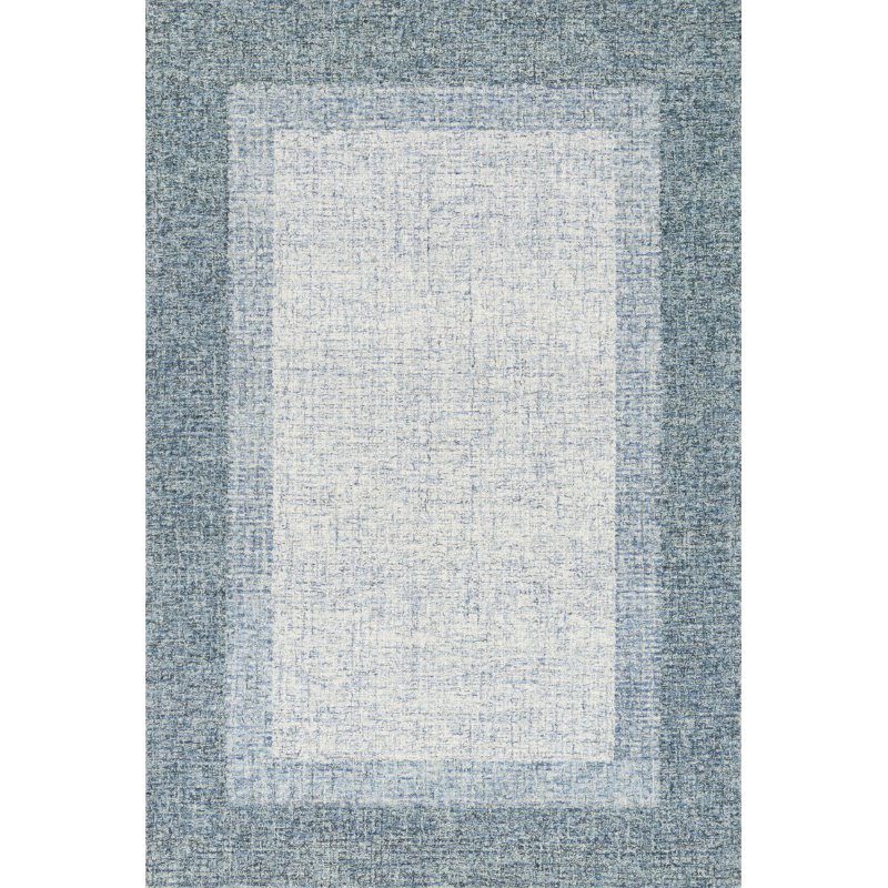 """Loloi Rosina ROI-01 Contemporary Hand Tufted 5' x 7' 6"""" Rectangle Rug in Aqua (ROSIROI-01AQ005076)"""