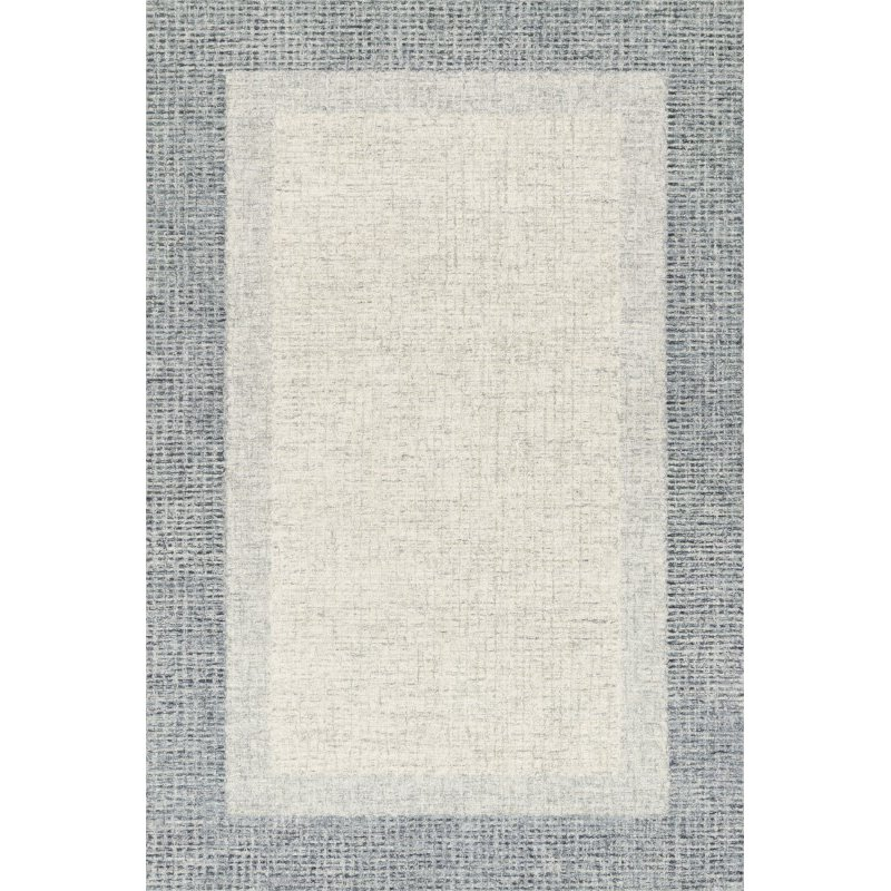"Loloi Rosina ROI-01 Contemporary Hand Tufted 5' x 7' 6"" Rectangle Rug in Grey and Blue (ROSIROI-01GYBB5076)"