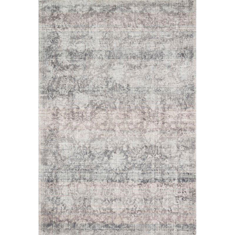 "Loloi Rumi RUM-01 Traditional 2' 6"" x 9' 9"" Runner Rug in Pewter (RUMIRUM-01PW002699)"