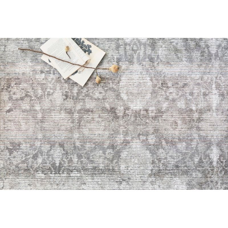 "Loloi Rumi RUM-01 Traditional 3' 6"" x 5' 6"" Rectangle Rug in Pewter (RUMIRUM-01PW003656)"