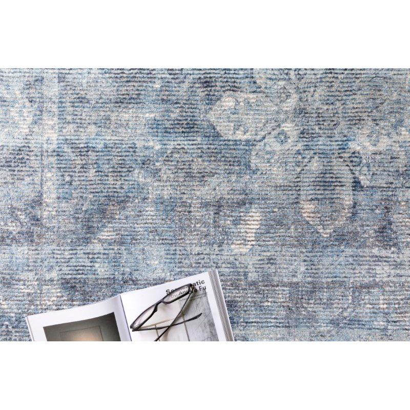 """Loloi Rumi RUM-02 Traditional 1' 6"""" x 1' 6"""" Sample Swatch Square Rug in Blue (RUMIRUM-02BB00160S)"""