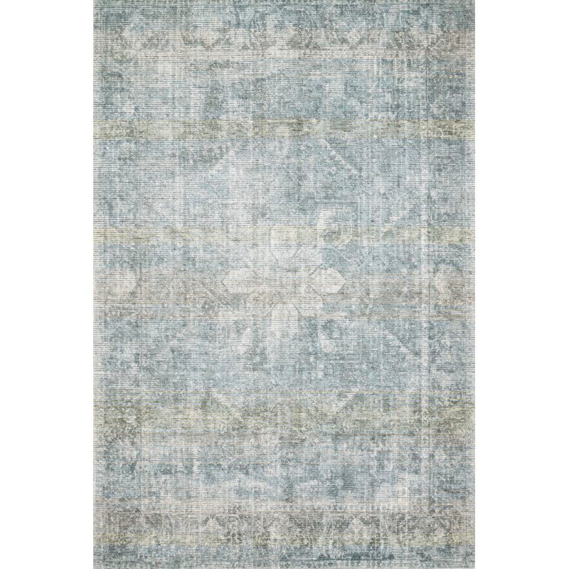 "Loloi Rumi RUM-02 Traditional 2' 6"" x 7' 6"" Runner Rug in Teal (RUMIRUM-02TE002676)"