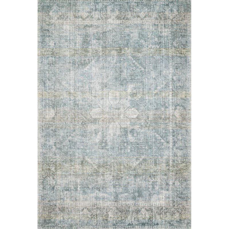 "Loloi Rumi RUM-02 Traditional 5' x 7' 6"" Rectangle Rug in Teal (RUMIRUM-02TE005076)"