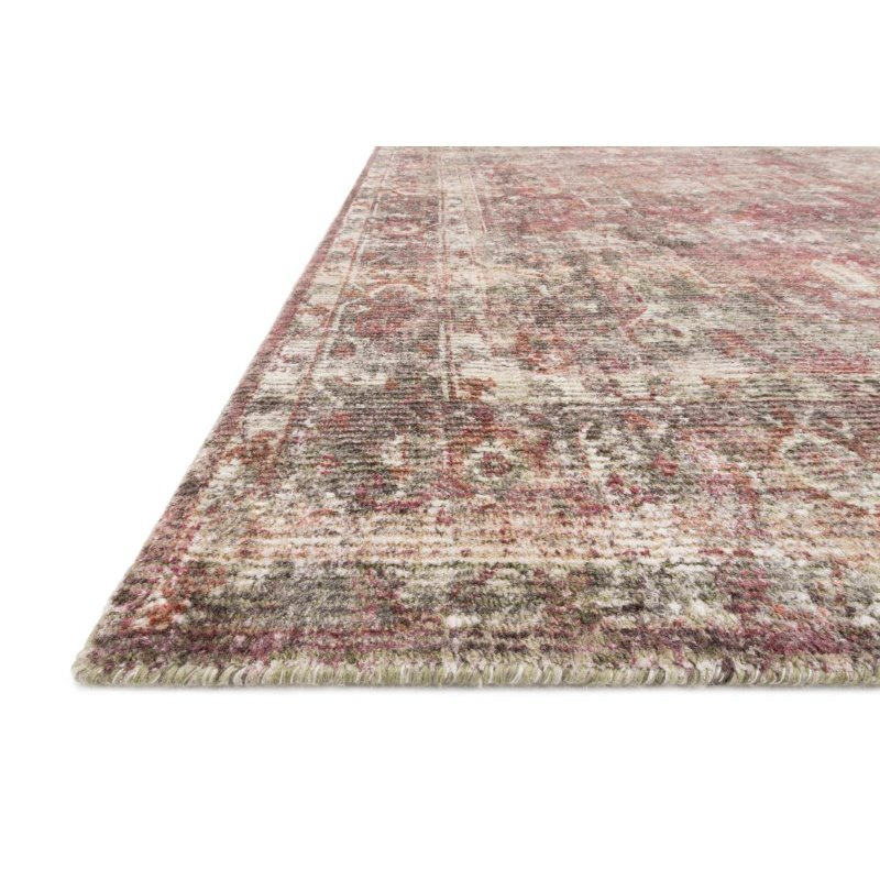 """Loloi Rumi RUM-04 Traditional 7' 9"""" x 9' 9"""" Rectangle Rug in Berry (RUMIRUM-04BY007999)"""