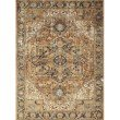 "Loloi Sebastian SEB-03 Traditional Power Loomed 6' 7"" x 9' 4"" Rectangle Rug in Red and Navy (SEBASEB-03RENV6794)"