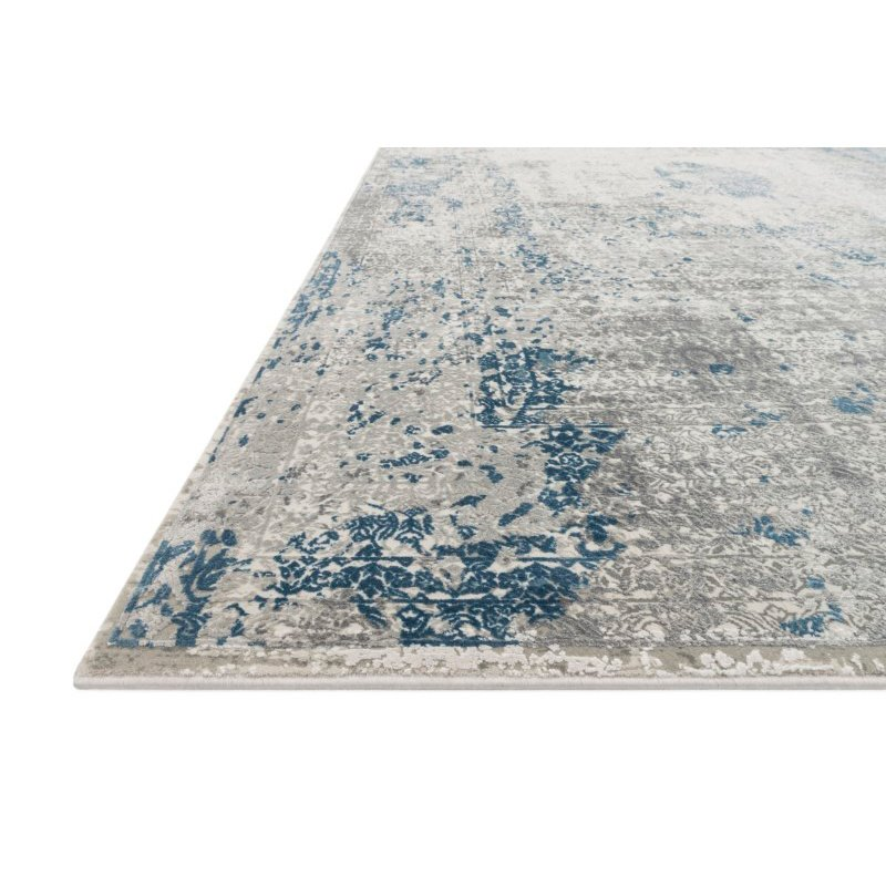 "Loloi Sienne SIE-01 Contemporary Power Loomed 3' 7"" x 5' 7"" Rectangle Rug in Dove and Ocean (SIENSIE-01DVOC3757)"
