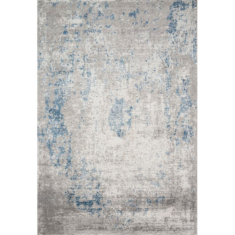 """Loloi Sienne SIE-01 Contemporary Power Loomed 5' 3"""" x 7' 8"""" Rectangle Rug in Dove and Ocean (SIENSIE-01DVOC5378)"""