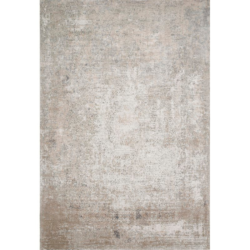 """Loloi Sienne SIE-01 Contemporary Power Loomed 5' 3"""" x 7' 8"""" Rectangle Rug in Ivory and Pebble (SIENSIE-01IVPP5378)"""