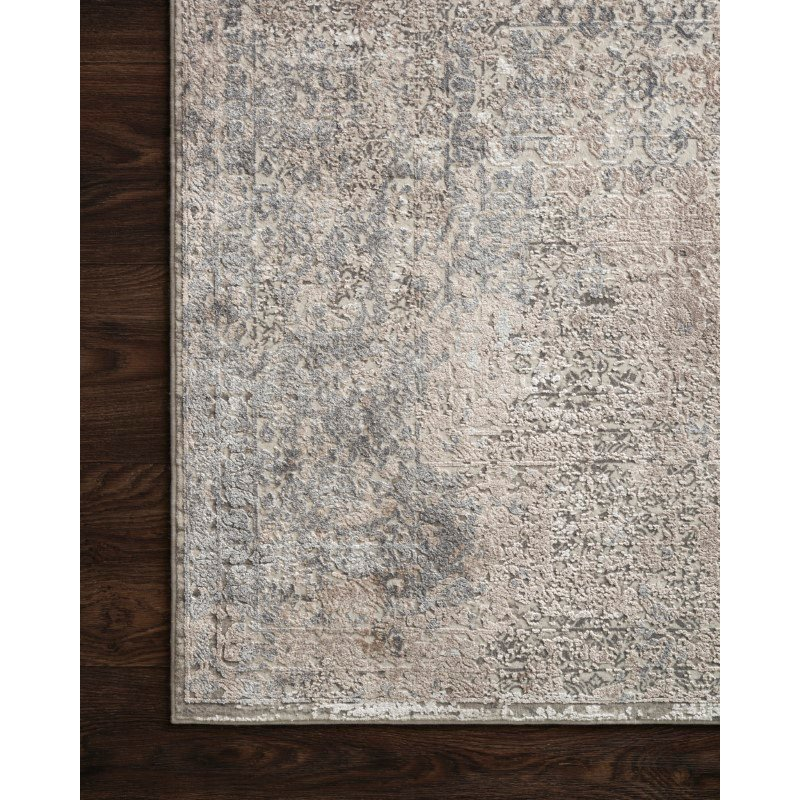 """Loloi Sienne SIE-01 Contemporary Power Loomed 9' 2"""" x 12' Rectangle Rug in Ivory and Pebble (SIENSIE-01IVPP92C0)"""