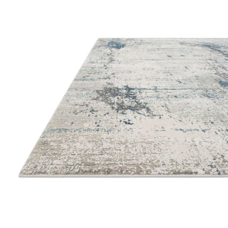 """Loloi Sienne SIE-02 Contemporary Power Loomed 9' 2"""" x 12' Rectangle Rug in Ivory and Ocean (SIENSIE-02IVOC92C0)"""