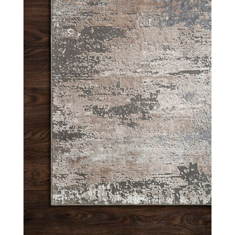 "Loloi Sienne SIE-03 Contemporary Power Loomed 2' 7"" x 10' Runner Rug in Ivory and Sand (SIENSIE-03IVSA27A0)"