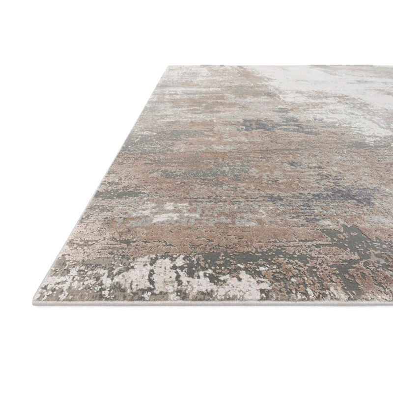 "Loloi Sienne SIE-03 Contemporary Power Loomed 3' 7"" x 5' 7"" Rectangle Rug in Ivory and Sand (SIENSIE-03IVSA3757)"