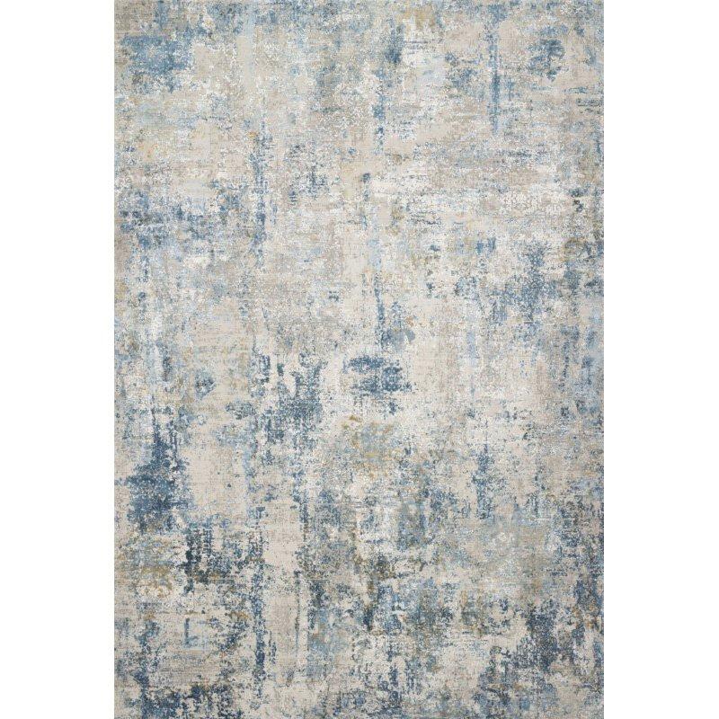 "Loloi Sienne SIE-06 Contemporary Power Loomed 1' 6"" x 1' 6"" Sample Swatch Rug in Grey and Blue (SIENSIE-06GYBB160S)"