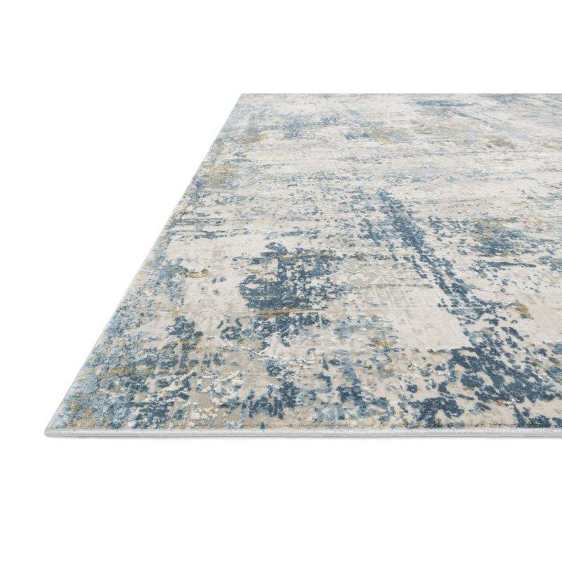 """Loloi Sienne SIE-06 Contemporary Power Loomed 2' 7"""" x 12' Runner Rug in Grey and Blue (SIENSIE-06GYBB27C0)"""