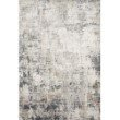 """Loloi Sienne SIE-07 Contemporary Power Loomed 2' 7"""" x 12' Runner Rug in Ivory and Granite (SIENSIE-07IVGN27C0)"""