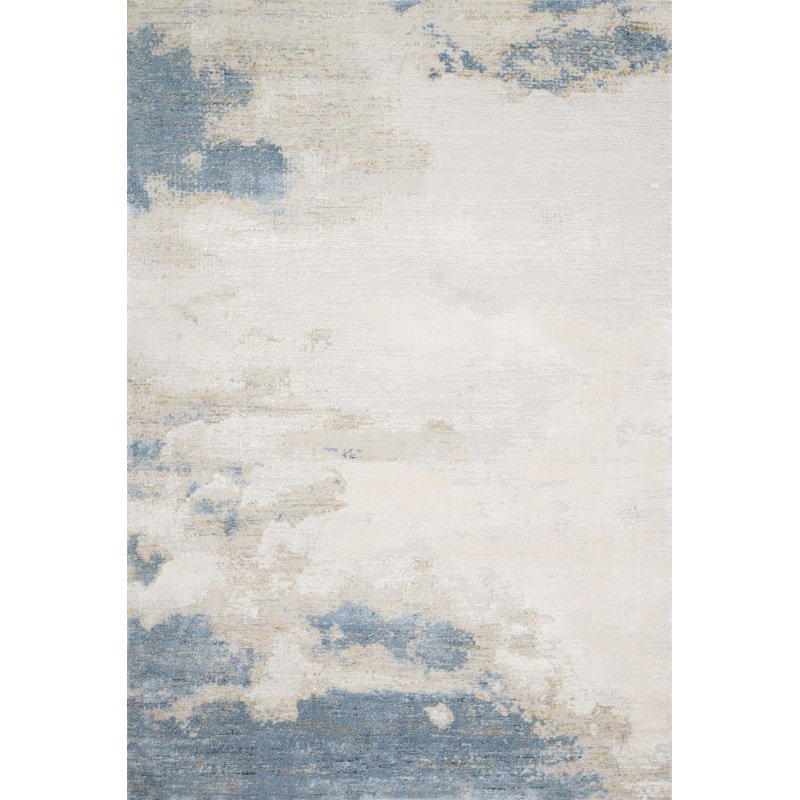 "Loloi Sienne SIE-08 Contemporary Power Loomed 3' 7"" x 5' 7"" Rectangle Rug in Sand and Ocean (SIENSIE-08SAOC3757)"