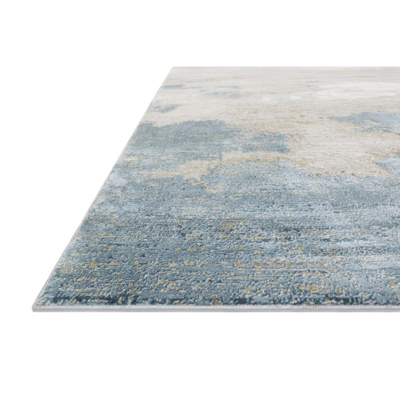 "Loloi Sienne SIE-08 Contemporary Power Loomed 5' 3"" x 7' 8"" Rectangle Rug in Sand and Ocean (SIENSIE-08SAOC5378)"
