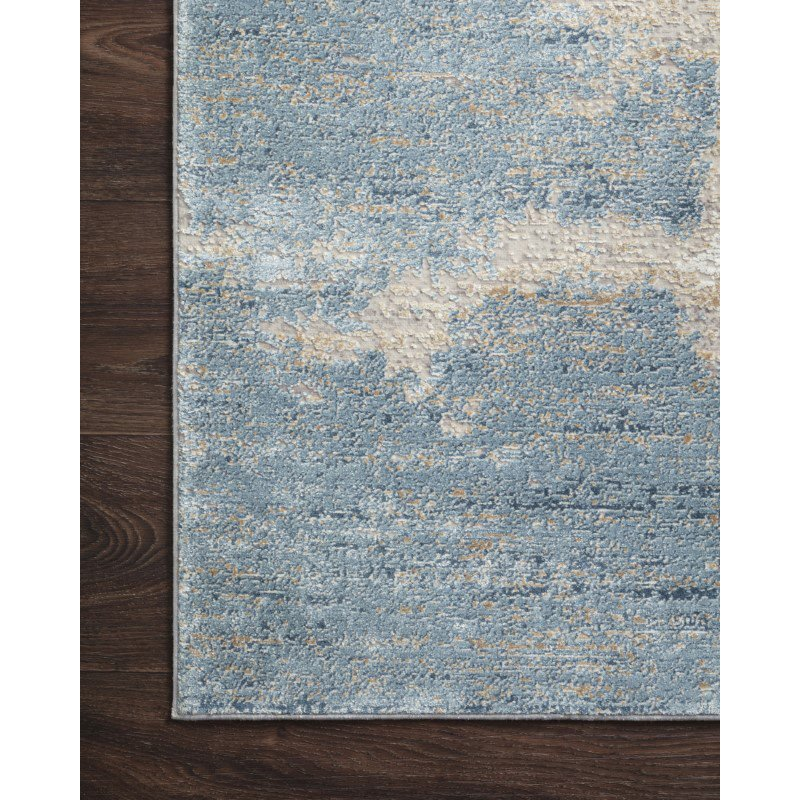 "Loloi Sienne SIE-08 Contemporary Power Loomed 7' 10"" x 10' 10"" Rectangle Rug in Sand and Ocean (SIENSIE-08SAOC7AAA)"