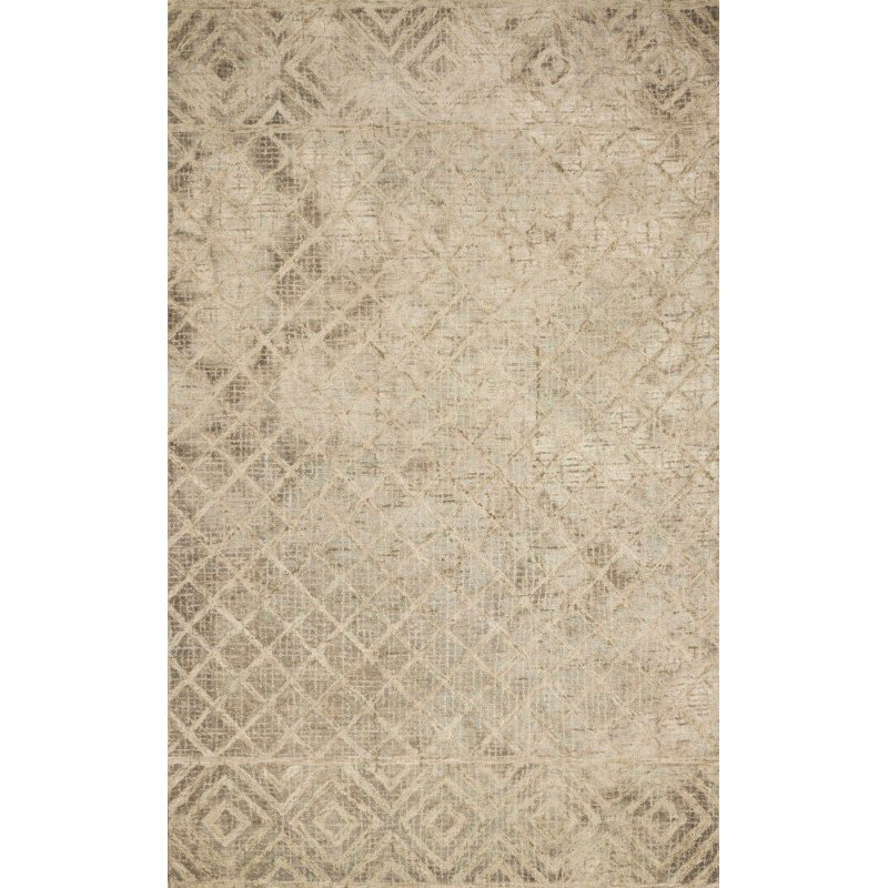 "Loloi Simone SIM-01 Contemporary 1' 6"" x 1' 6"" Sample Swatch Square Rug in Sand (SIMOSIM-01SA00160S)"