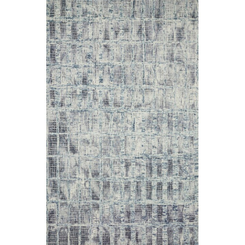"Loloi Simone SIM-02 Contemporary 1' 6"" x 1' 6"" Sample Swatch Square Rug in Blue (SIMOSIM-02BB00160S)"