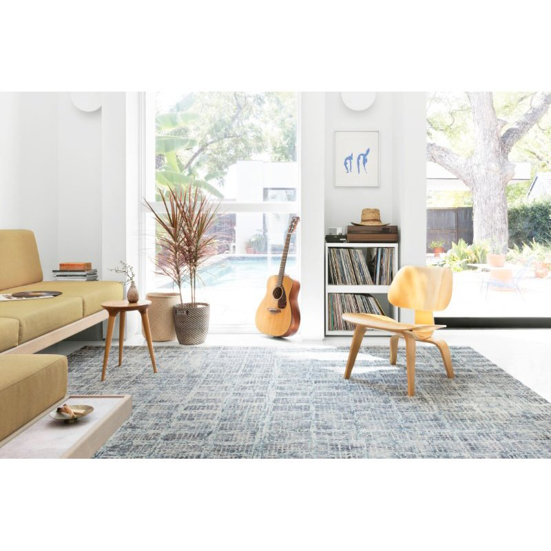 "Loloi Simone SIM-02 Contemporary 5' x 7' 6"" Rectangle Rug in Blue (SIMOSIM-02BB005076)"