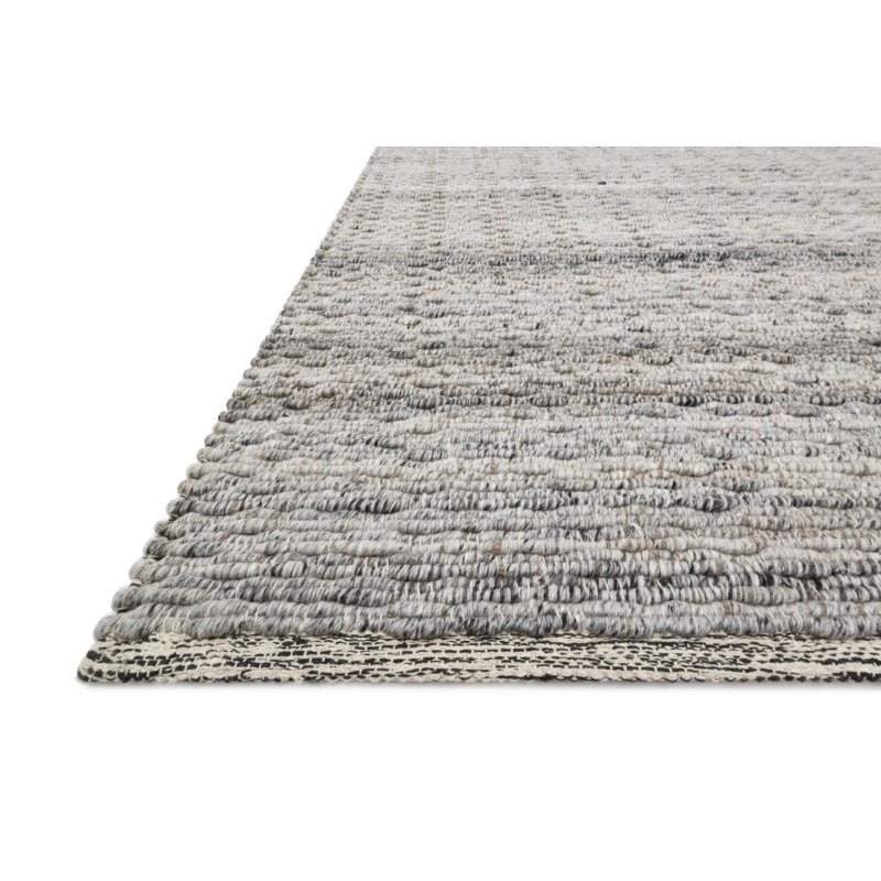 """Loloi Stokholm STK-01 Contemporary Hand Loomed 5' x 7' 6"""" Rectangle Rug in Grey (STOKSTK-01GY005076)"""