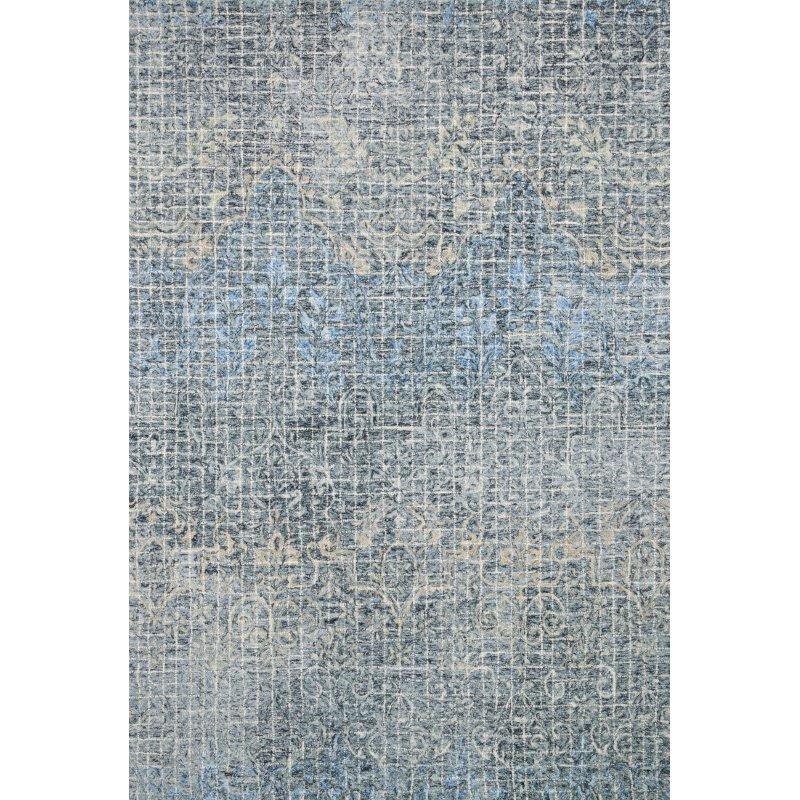 "Loloi Tatum TW-04 3' 6"" x 5' 6"" Rectangle Rug in Ink and Blue (TATUTW-04IKBB3656)"