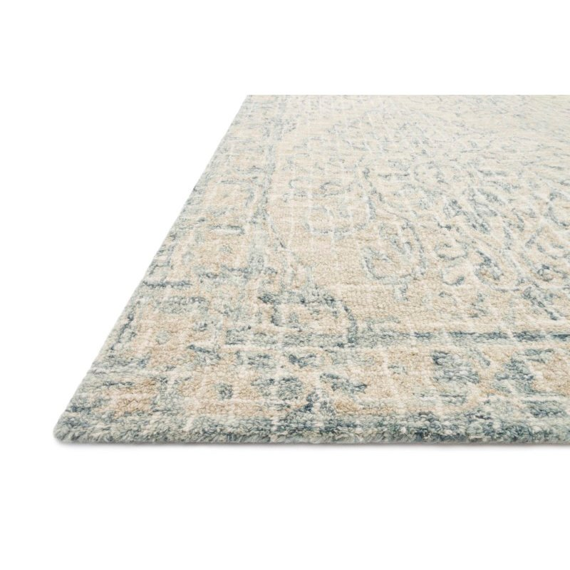 "Loloi Tatum TW-05 2' 6"" x 7' 6"" Runner Rug in Natural and Sky (TATUTW-05NASC2676)"