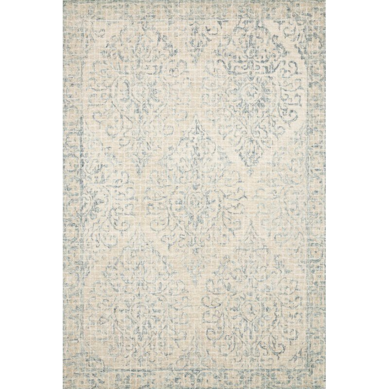 "Loloi Tatum TW-05 3' 6"" x 5' 6"" Rectangle Rug in Natural and Sky (TATUTW-05NASC3656)"